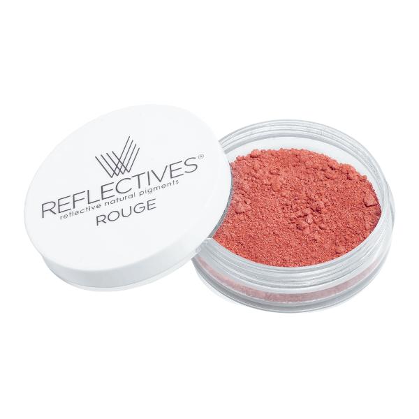 REFLECTIVES® Rouge warm terracotta mit geöffnetem Deckel