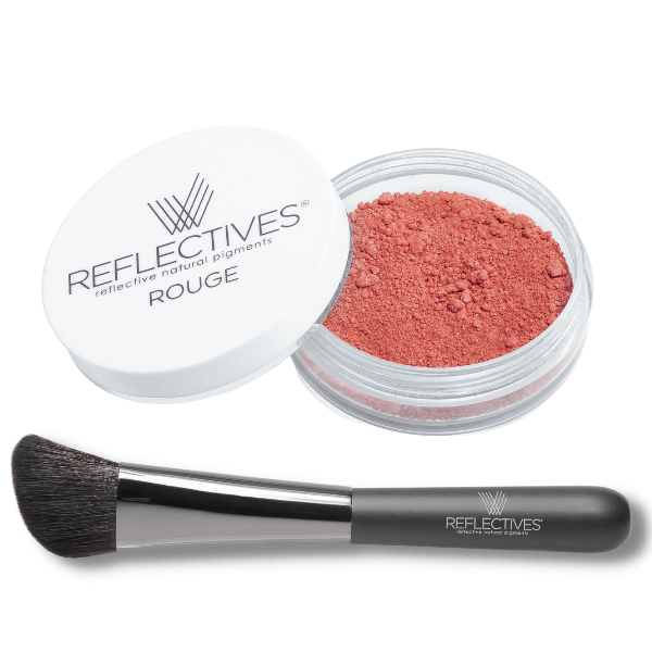 Mineral Rouge-Set mit Pinsel