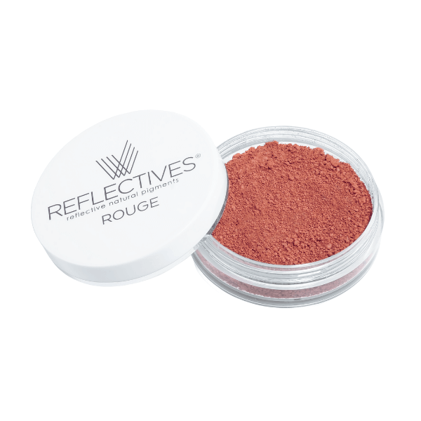 REFLECTIVES® Rouge dark terracotta mit geöffnetem Deckel